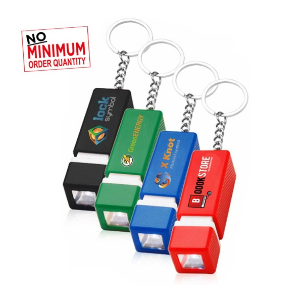 Rectangular LED key chain