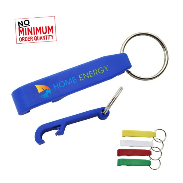 Plastic Bottle Opener Key Ring with full color process