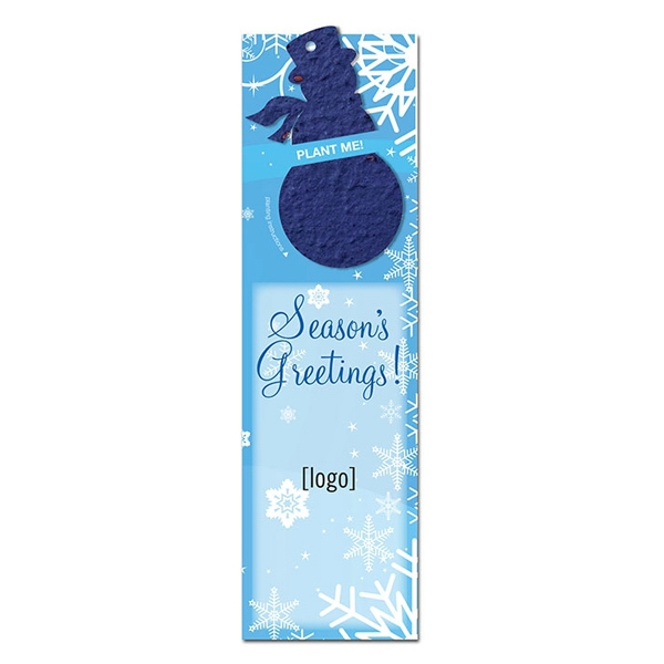Snowman Seed Bookmark