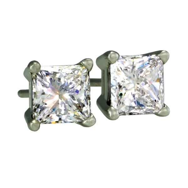 Antwerp Diamonds Royal Princess Stud White Gold Earrings