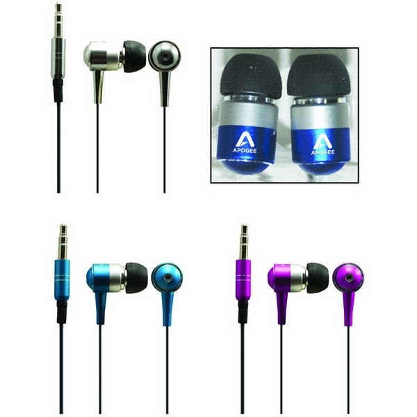 Metalix (tm) - Stereo Earphone With Your Logo Printed. Perfect For Ipad, Ipod, Iphone, Mp3 Player Photo