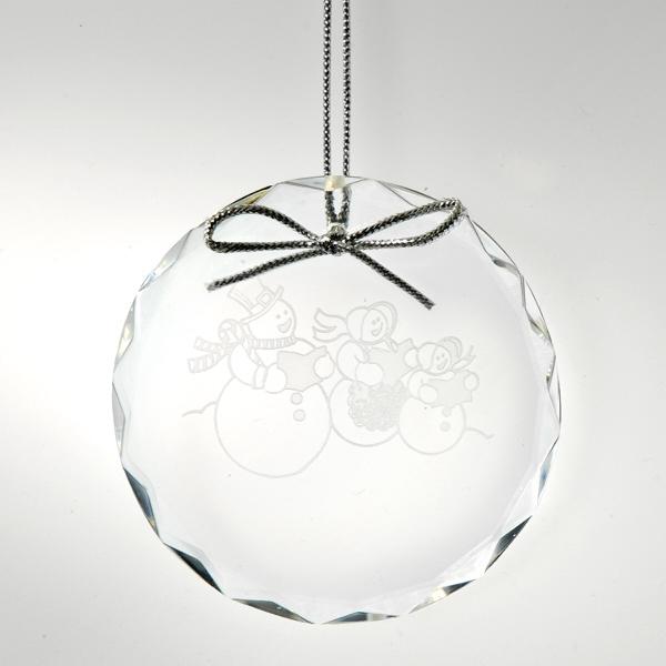 Award-Optic Crystal Christmas Ornament