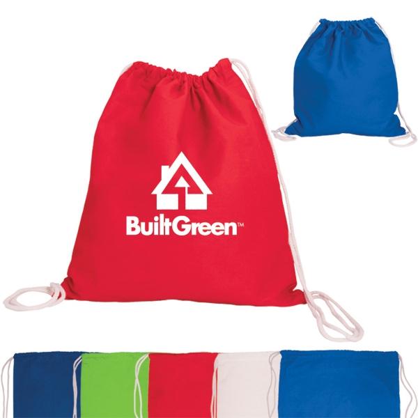 5 oz. Cotton Drawstring Backpack
