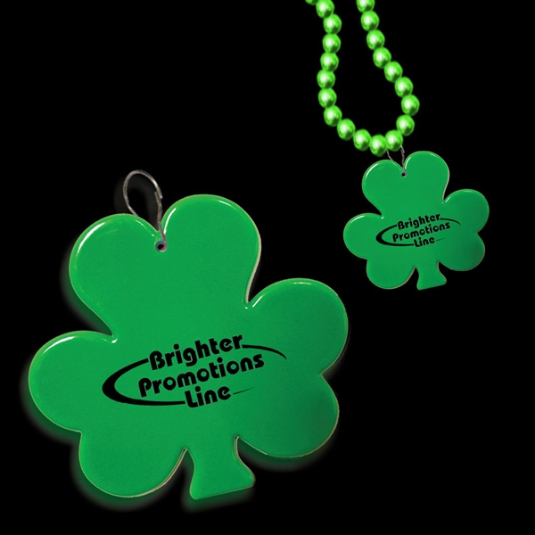 "2 1/2"" Clip On Shamrock Medallion Badge Photo"