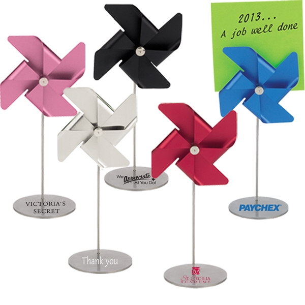 Executive Series - Pinwheel Note Holder - Pinwheel Spins, Clip Holds Notes, Photo, Placecards Or Promos Photo