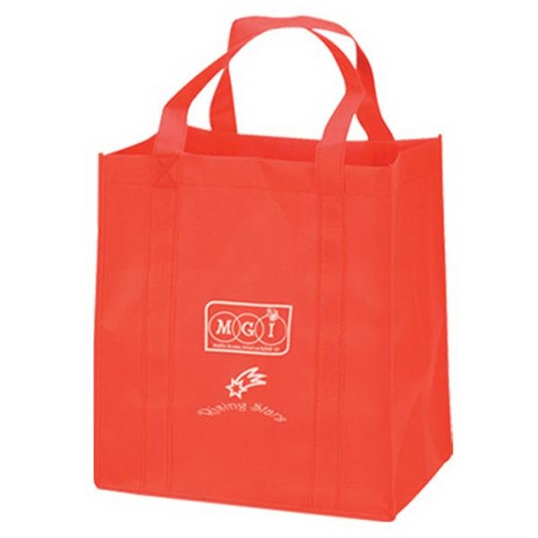 "Non Woven Shopping Tote Bag With Wide 8"" Gusset And Dual Shoulder Straps Photo"