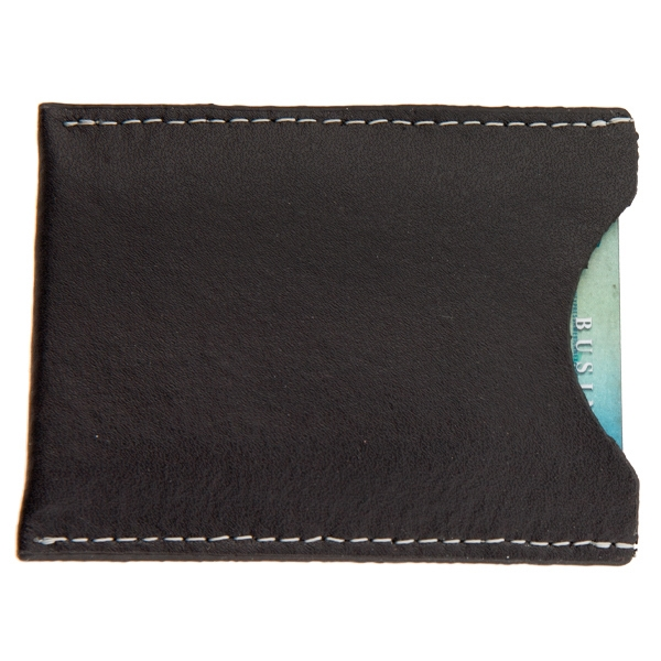 Concord - Black - Magnetic Money Clip Card Case Made Of Top Grain Cowhide Leather Photo