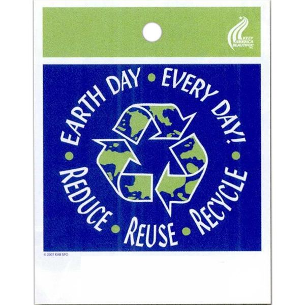 "Earth Day Every Day! Reduce - Reuse - Recycle - Stock Design Single Wall 9"" X 12"" Litter Bag With Front Opening Photo"