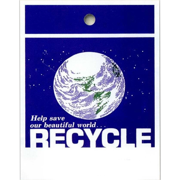 "Help Save Our Beautiful World... Recycle - Stock Design Single Wall 9"" X 12"" Litter Bag With Front Opening Photo"