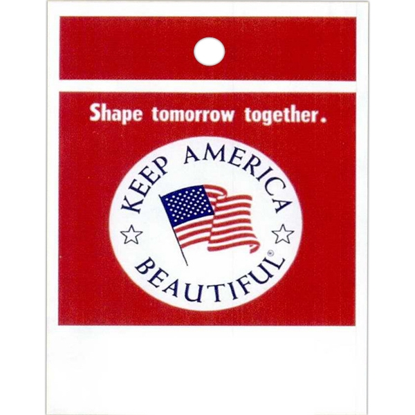 "Shape Tomorrow Together. Keep America Beautiful - Stock Design Single Wall 9"" X 12"" Litter Bag, Front Opening And Political Design Photo"