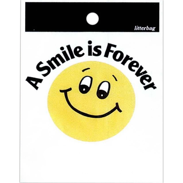 "A Smile Is Forever - Stock Design Single Wall 9"" X 12"" Litter Bag, Customer Appreciation Theme Photo"