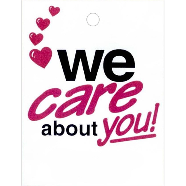 "We Care About You - Stock Design Single Wall 9"" X 12"" Litter Bag, Customer Appreciation Theme Photo"