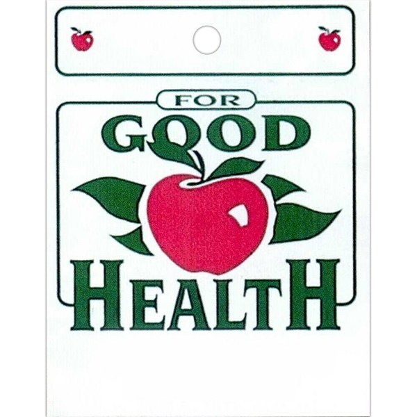 "Good Health And Apple Design - Stock Design Single Wall 9"" X 12"" Litter Bag With Front Opening, Health Design Photo"