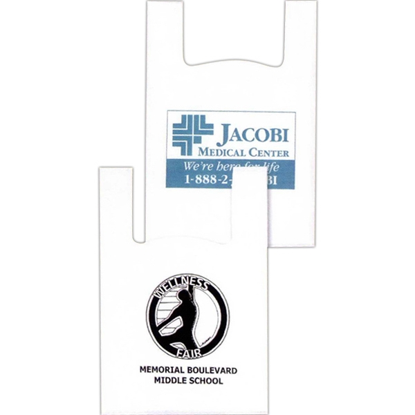 "12"" X 6"" X 18"" - Custom Printed Grip Bag With T-shirt Style Handles And 6"" Side Gusset Photo"