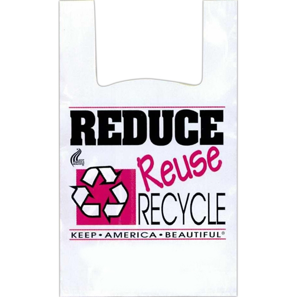 "Reduce Reuse Recycle - 12"" X 6"" X 24"" - Stock Design T-shirt Grip Bag With 6"" Side Gusset Photo"