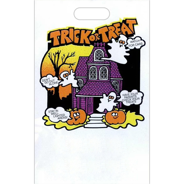 Trick Or Treat - Halloween Plastic Bag With Perforated Tear Off Coupon At Bottom Of Bag Photo