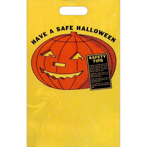 Have A Safe Halloween With Pumpkin. - Halloween Plastic Bag With Perforated Tear Off Coupon At Bottom Of Bag Photo