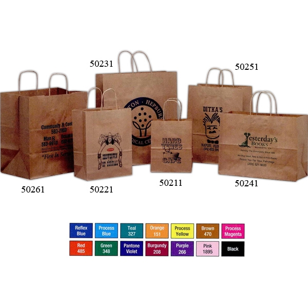 "Brown Kraft Paper Shopping Bag, 8 1/4"" X 4 1/4"" X 10 3/4"" Photo"