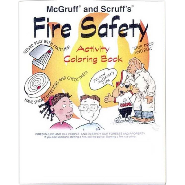 "Mcgruff And Scruff's Fire Safety - Coloring/activity Book With Police And Fire Theme, 8 Pages, 8 1/2"" X 11"" Photo"
