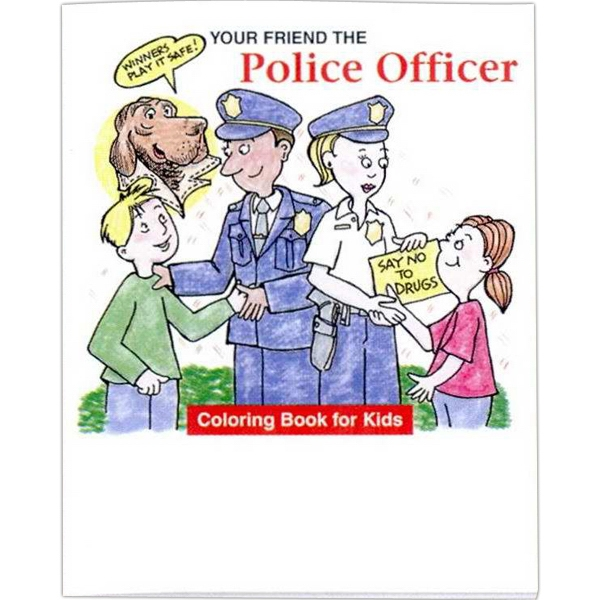 "Your Friend The Police Officer - Coloring/activity Book With Police And Fire Theme, 8 Pages, 8 1/2"" X 11"" Photo"