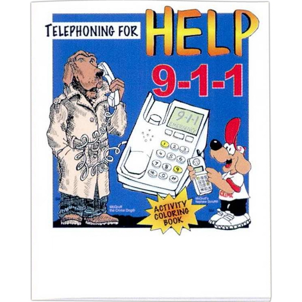 "Mcgruff ""telephoning For Help 9-1-1"" - Coloring/activity Book With Police And Fire Theme, 8 Pages, 8 1/2"" X 11"" Photo"