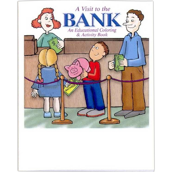 A Visit To The Bank - Coloring/activity Book With Financial Theme, 8 Pages Photo