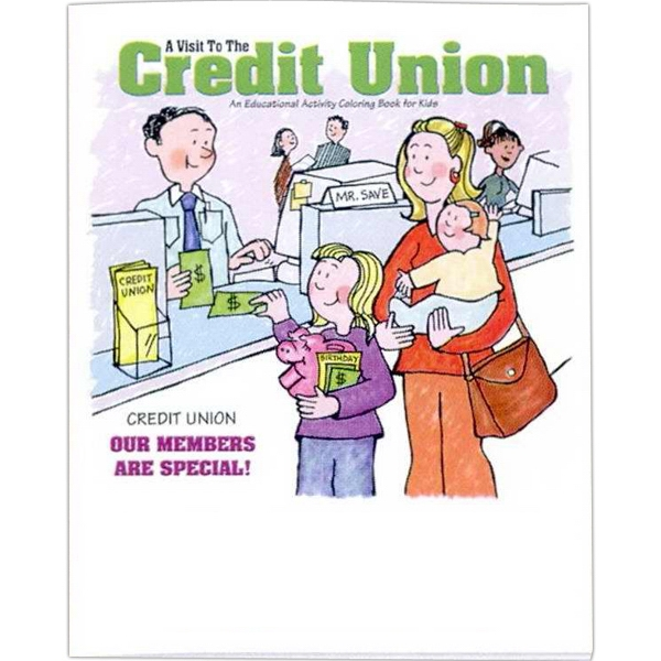 A Visit To The Credit Union - Coloring/activity Book With Financial Theme, 8 Pages Photo