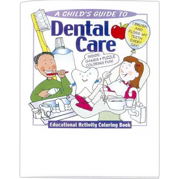 A Child's Guide To Dental Care - Educational Coloring Book With Health Theme, 8 Pages Photo