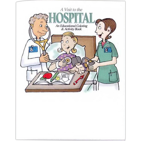 A Visit To The Hospital - Educational Coloring Book With Health Theme, 8 Pages Photo