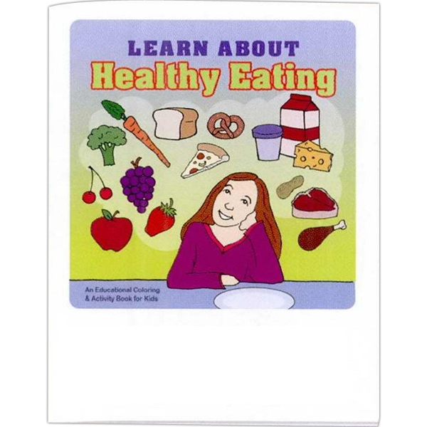 Learn About Healthy Eating - Educational Coloring Book With Health Theme, 8 Pages Photo