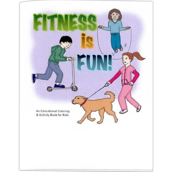 Fitness Is Fun! - Educational Coloring Book With Health Theme, 8 Pages Photo