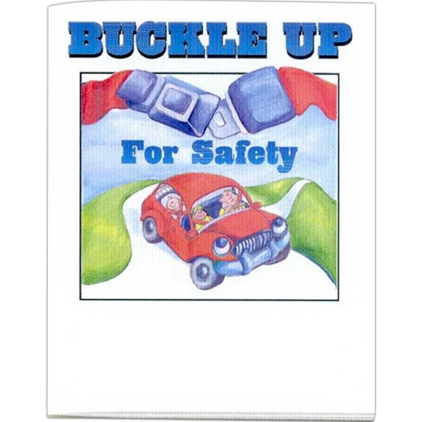 Buckle Up For Safety - Prevention And Safety Coloring Activity Book With 8 Pages Photo