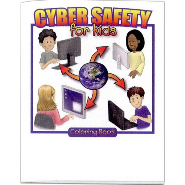 Cyber Safety For Kids - Prevention And Safety Coloring Activity Book With 8 Pages Photo