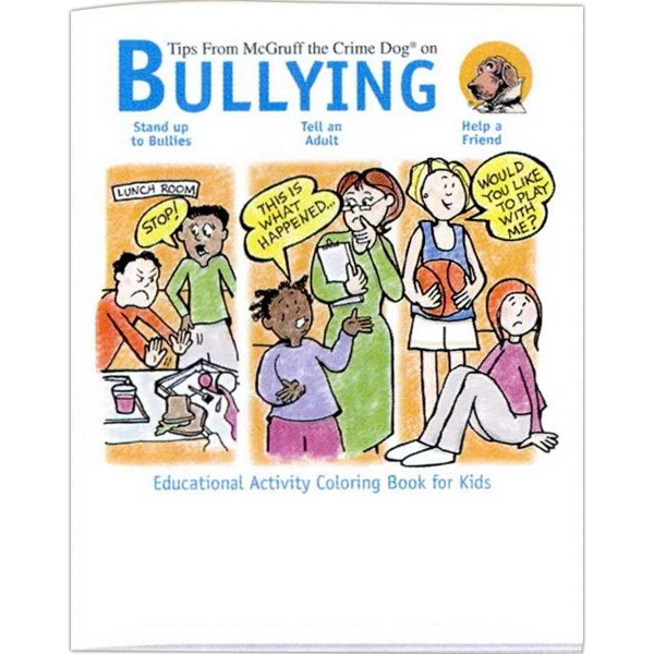 Tips On Bullying - Prevention And Safety Coloring Activity Book With 8 Pages Photo