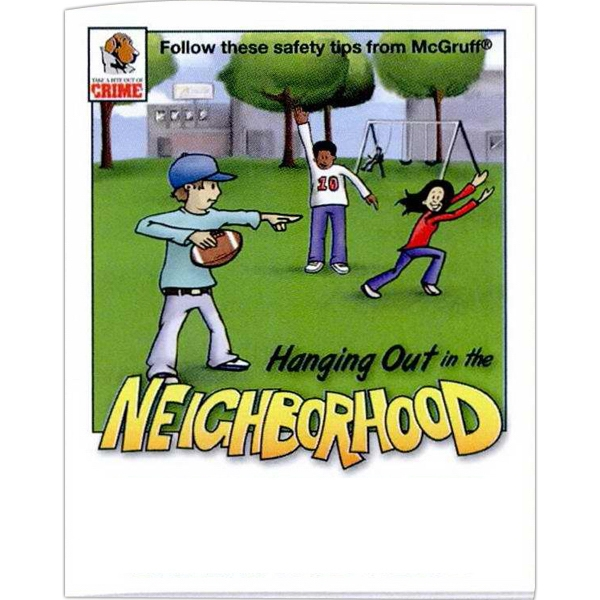 Hanging Out Int The Neighborhood Safety Tips - Prevention And Safety Coloring Activity Book With 8 Pages Photo