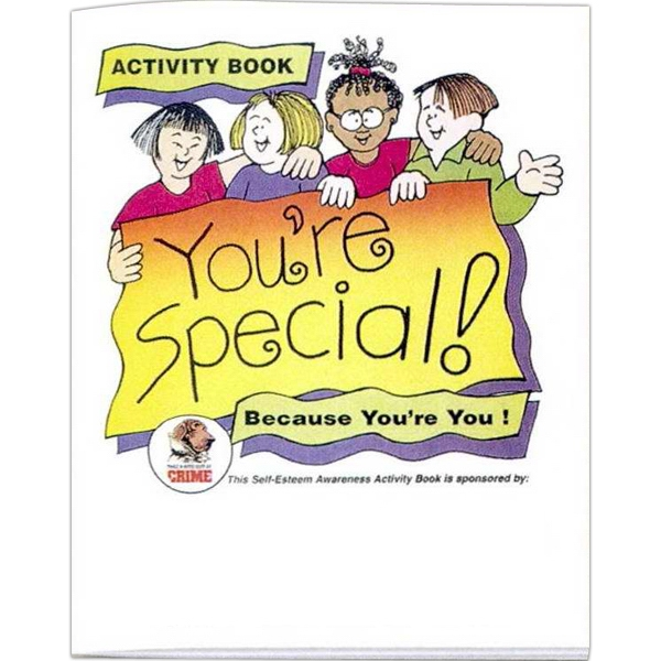 You're Special Because You're You - Prevention And Safety Coloring Activity Book With 8 Pages Photo
