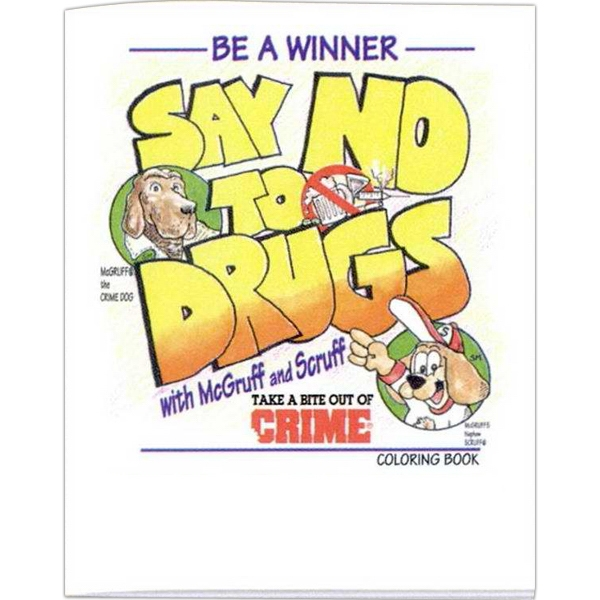 Be A Winner Say No To Drugs - Prevention And Safety Coloring Activity Book With 8 Pages Photo