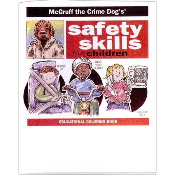 Safety Skills For Children - Prevention And Safety Coloring Activity Book With 8 Pages Photo