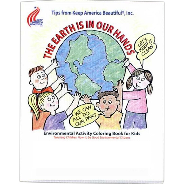 The Earth Is In Our Hands - Coloring And Activity Book With Environmental Theme, 8 Pages Photo