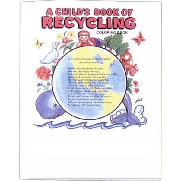 A Child's Book Of Recycling - Coloring And Activity Book With Environmental Theme, 8 Pages Photo