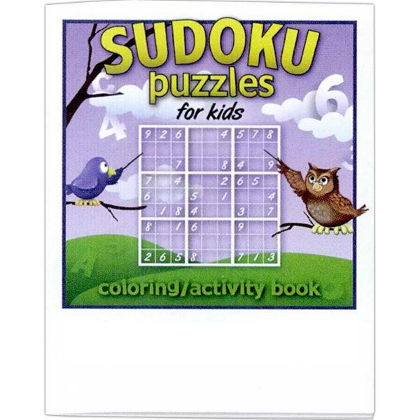 Stock Design 8 Page Coloring And Activity Book With Sudoku Puzzles For Kids Photo