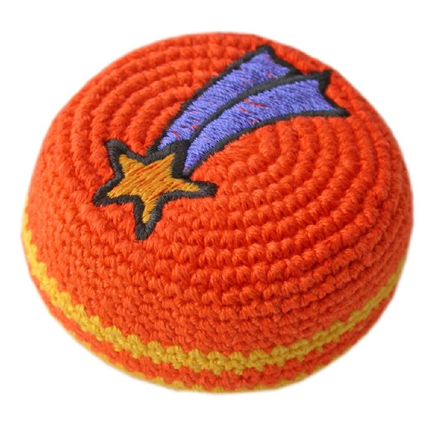 Official Footbags (tm) - Hand Crocheted Guatemalan Footbag In Cotton Or Hemp Photo