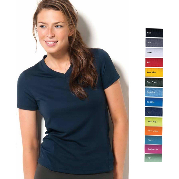 Marathon - S- X L - Short Sleeve Syntrel(tm) V-neck 100% Microfiber Polyester Training Tee Photo