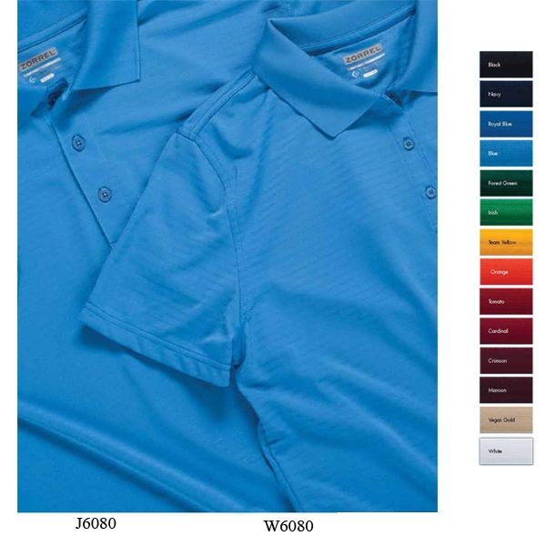 Cayenne - 2 X L - Polyester Jacquard Stripe Polo Shirt Photo