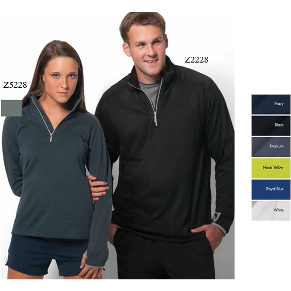 Verona - S- X L - Pullover In Microbrushed Fleece 1/4 Zip Photo