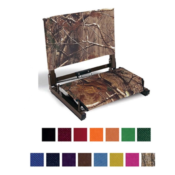 Patented Stadium Chair Made Of Durable Steel Frame And Cordura Canvas Photo