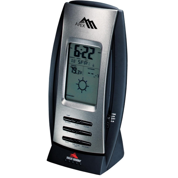 High Sierra (r) Tahoe - Indoor/outdoor Weather Station With Calendar, Temperature Display And Alarm Clock Photo