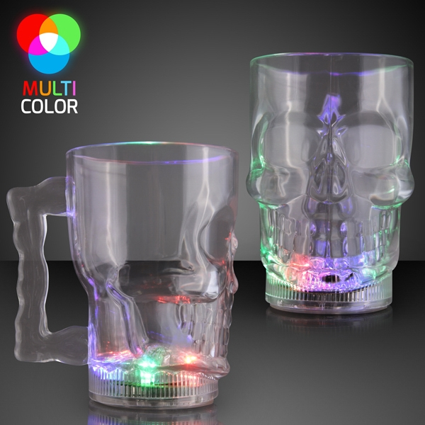 Light Up Skull Halloween Party Mug