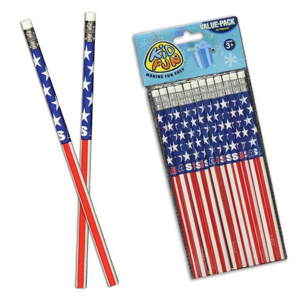 American Flag Pencils
