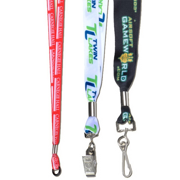 "Sublimated Lanyard With A Metal Crimp, 1/2"" Width Photo"